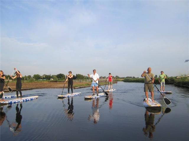 Bedrijfsuitje Amsterdam suppen Waterland